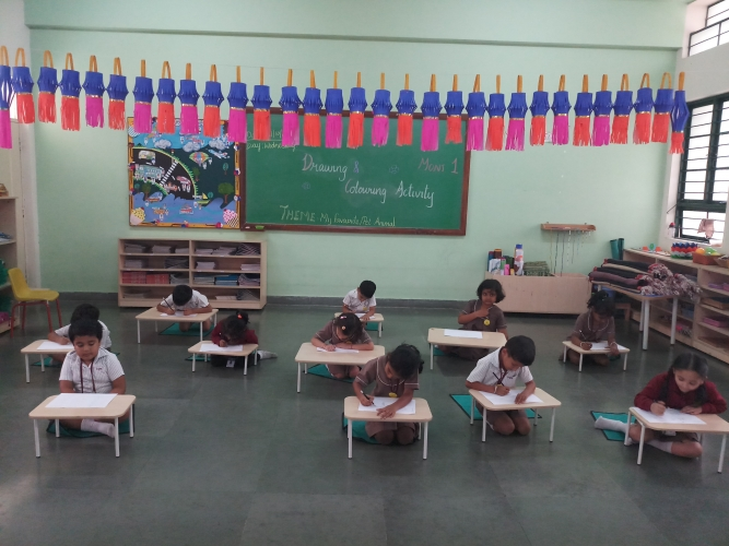 Drawing and Colouring Activity - Montessori