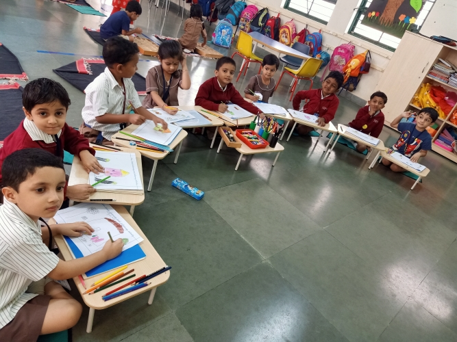 Pre Primary - Drawing and Colouring Activity
